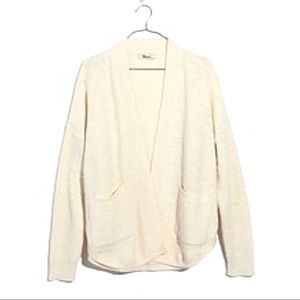 Madewell white Skipper Cardigan cotton linen S